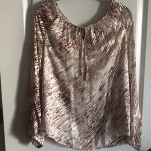 Pink/Cream Burn-Out Blouse